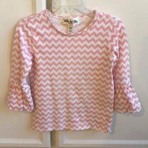Matilda Jane pink and white shirt